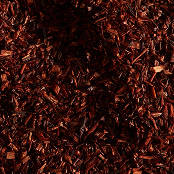 Close up of rooibos leaves, one of the hero ingredients in weDo's products